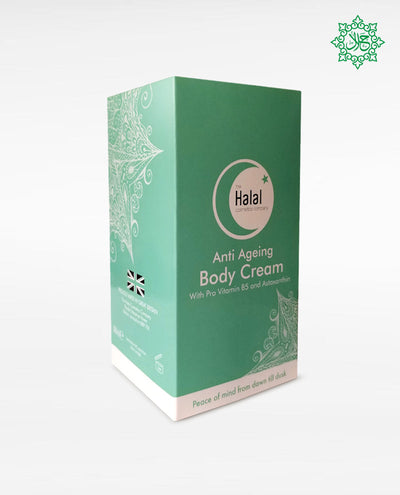 Halal Anti-Aging Body Cream Box sides