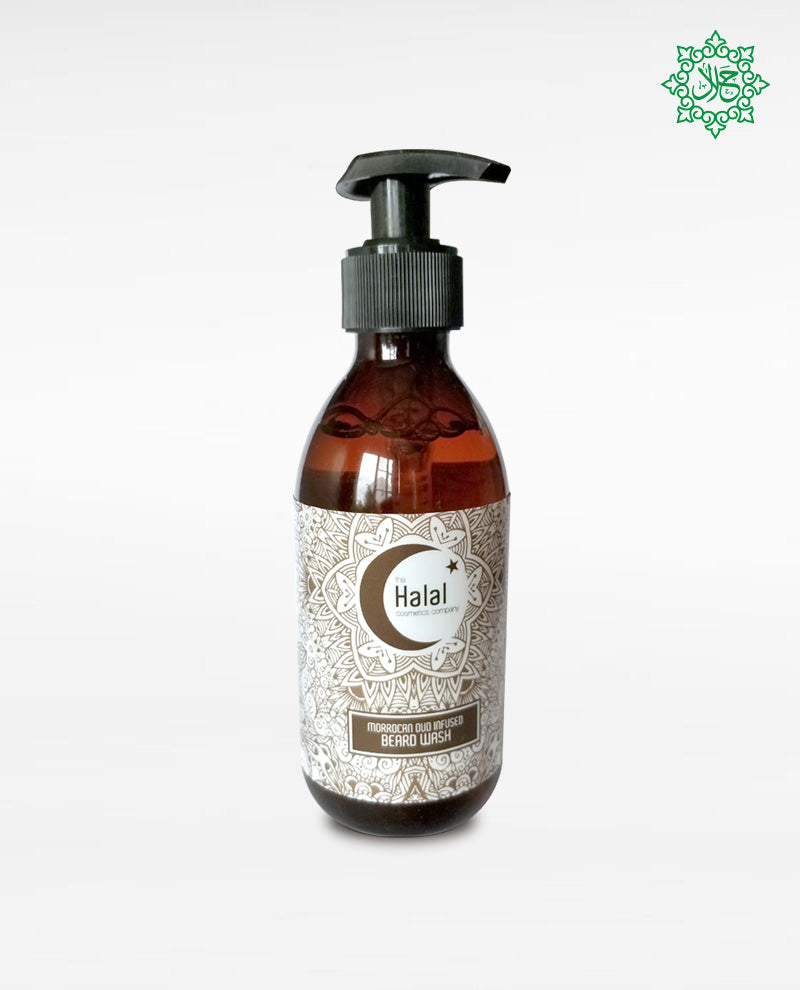 Halal Men's Beard Wash with Moroccan Oud Fragrance