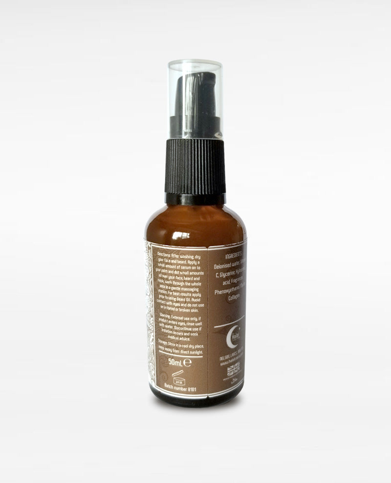 Halal Men's Moisturizing Face & Beard Serum with Moroccan Oud