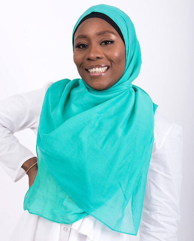 Aqua Green Cotton Voile Scarf Hijab