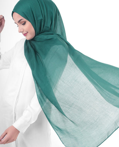 Alpine Green Viscose Woven Hijab Regular Alpine Green