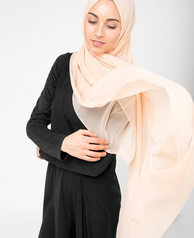 Amberlight Orange Poly Chiffon Hijab Regular