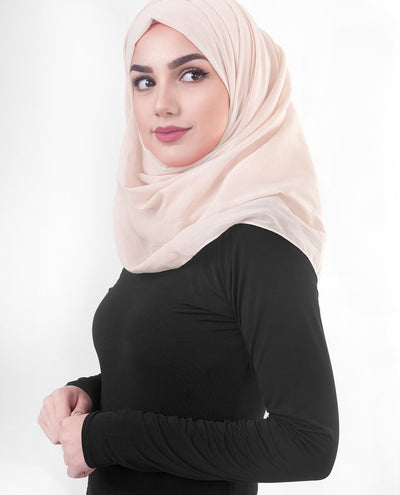 Angel Wing Viscose Woven Hijab Regular Beige