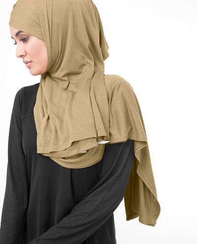 Apple Cinnamon Brown Viscose Jersey Hijab Medium Apple Cinnamon Brown