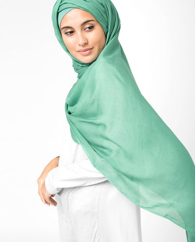 Aqua Green Viscose Woven Hijab Regular Aqua Green