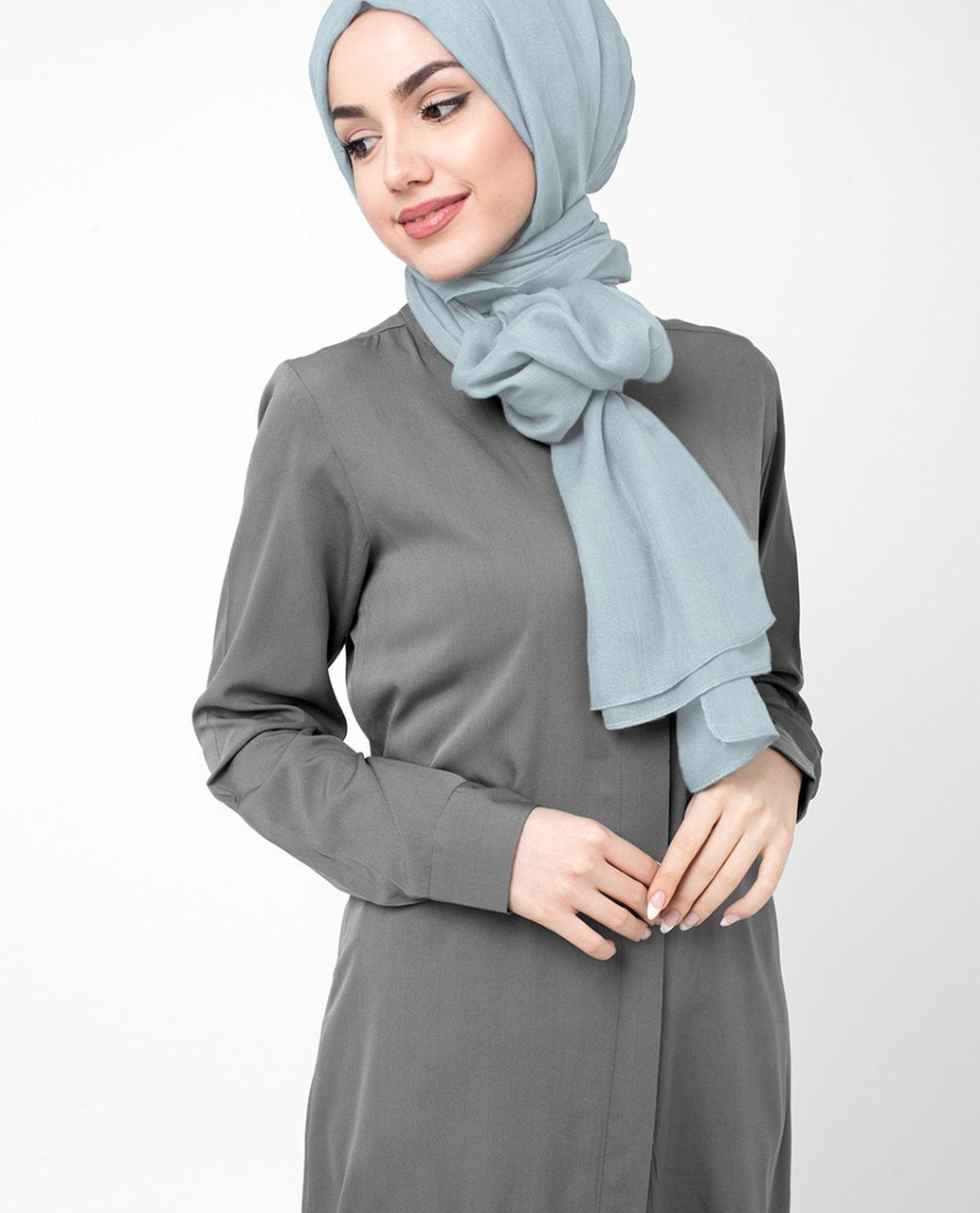 Ballad Blue Viscose Woven Hijab Regular Ballad Blue