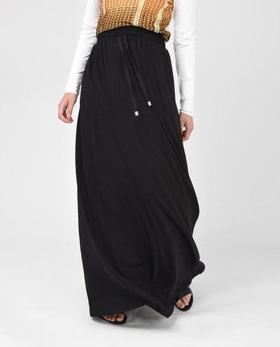 Black Long Maxi Skirt Slim Petit (W28 L36)