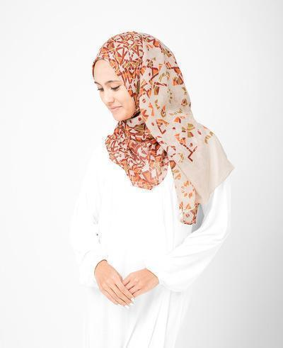 Bone Brown Hijab Regular Brown