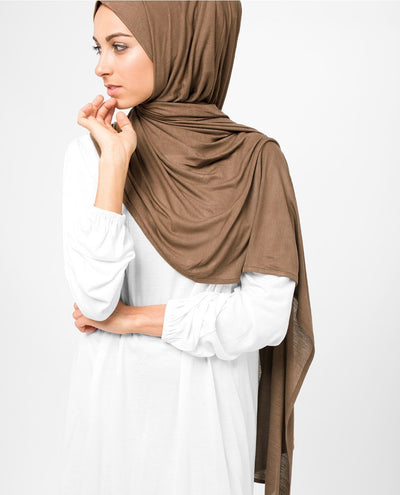 Brown Sugar Viscose Jersey Hijab Regular Brown Sugar