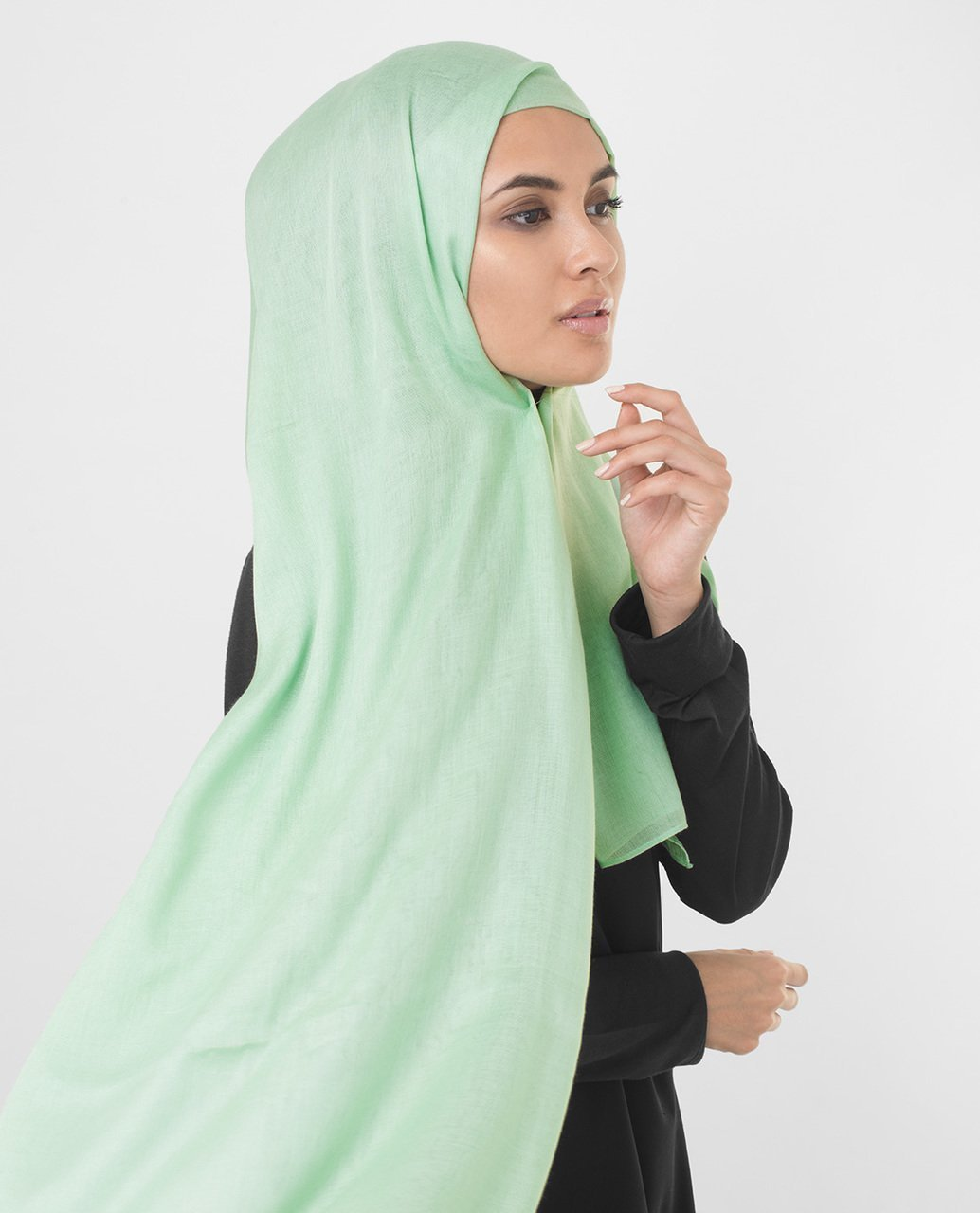 Cameo Green Viscose Woven Hijab Regular Cameo Green