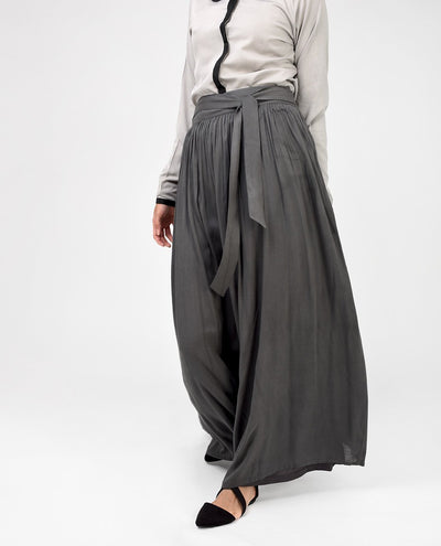 Charcoal Grey Skirt Slim (W28 L39) Charcoal Grey