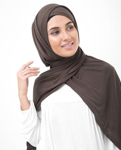Chestnut Brown Viscose Jersey Hijab Regular Chestnut Brown
