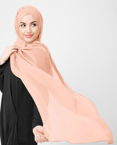 Chiffon Hijab in Evening Sand Color M Evening Sand