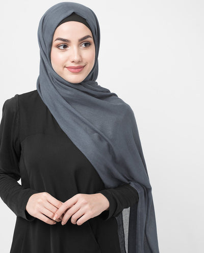 Coronet Blue Viscose Woven Hijab Regular Coronet Blue