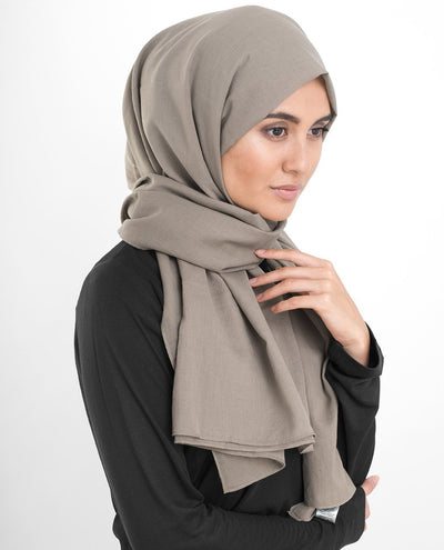 Cotton Voile Hijab in Almondine Beige Regular Almondine Beige