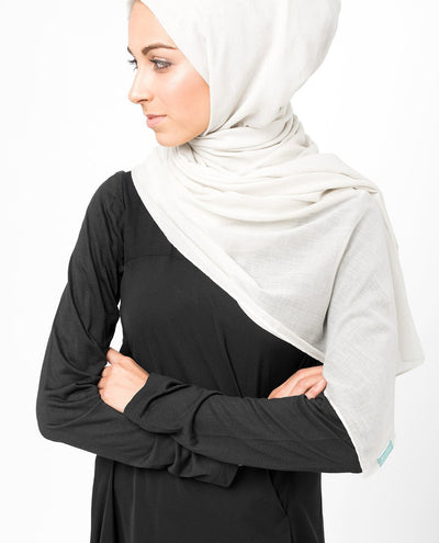 Cotton Voile Hijab in Bright White Regular Bright White