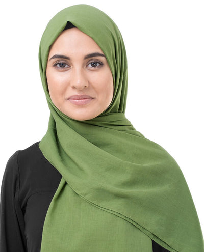 Cotton Voile Hijab in Forest Green Color Regular Forest Green