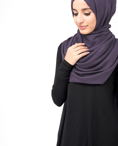 Cotton Voile Hijab in Loganberry Color Regular Loganberry