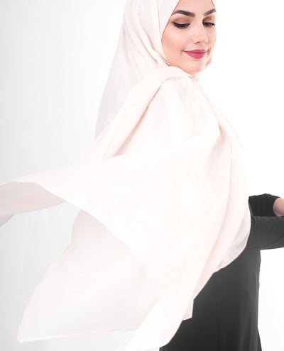 Cotton Voile Hijab in Pale Dogwood Color Regular Pale Dogwood