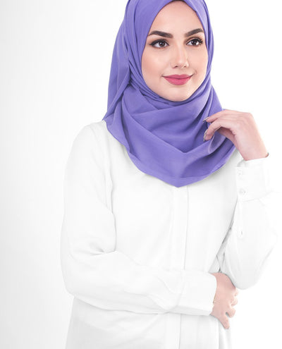 Cotton Voile Hijab in Purple Opulence Color Regular Purple Opulence