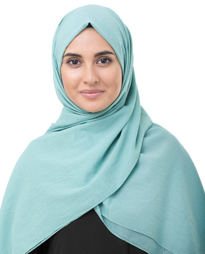 Cotton Voile Hijab in Wasabi Green Color Regular Wasabi Green