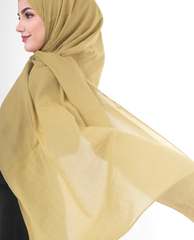 Cotton Voile Hijab in Willow Color Regular Willow