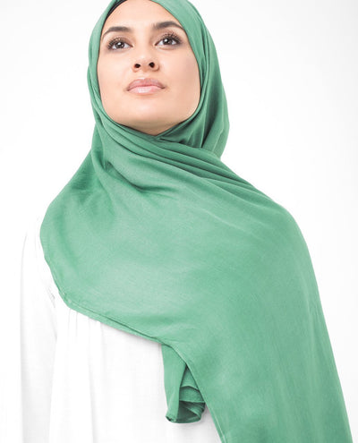 Deep Grass Green Viscose Hijab Regular Deep Grass Green