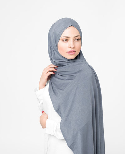 Dusty Blue Viscose Jersey Hijab Medium Dusty Blue