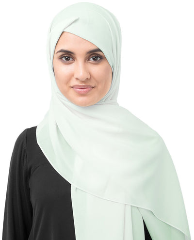 Fairest Jade Green Poly Georgette Hijab Regular Fairest Jade Green