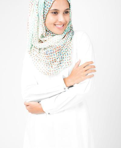 Flamingo White Hijab Regular Flamingo White