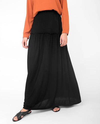 "Full Length Black Flared Skirt S 5'2"" Black"