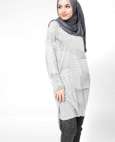 Geo Grey Top Slim