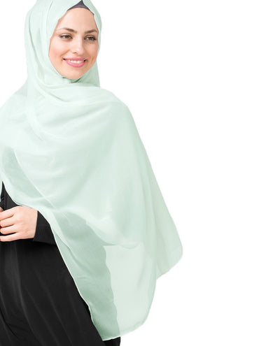Glacier Grey Poly Chiffon Hijab Regular Glacier Grey