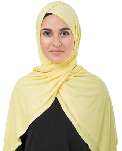 Goldfinch Yellow Viscose Jersey Hijab Regular Goldfinch Yellow