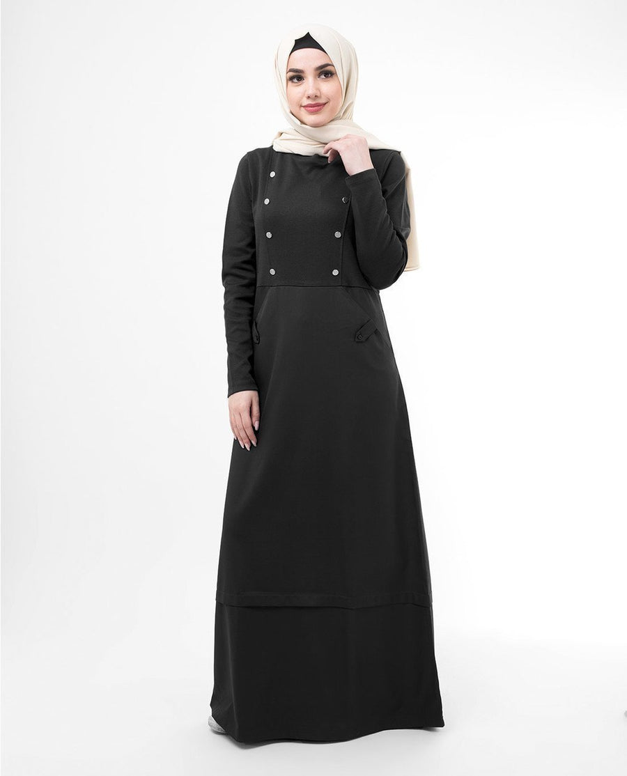 Gorgeous Black Smart Sister Abaya Jilbab