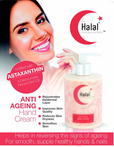 Halal Anti-Aging Hand cream Product Flyer