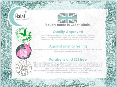 Halal Certification for Men's Beard Wash with Moroccan Oud Fragrance