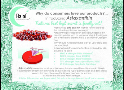 Halal Moisturizing Day Cream with Astaxanthin Ingredient List