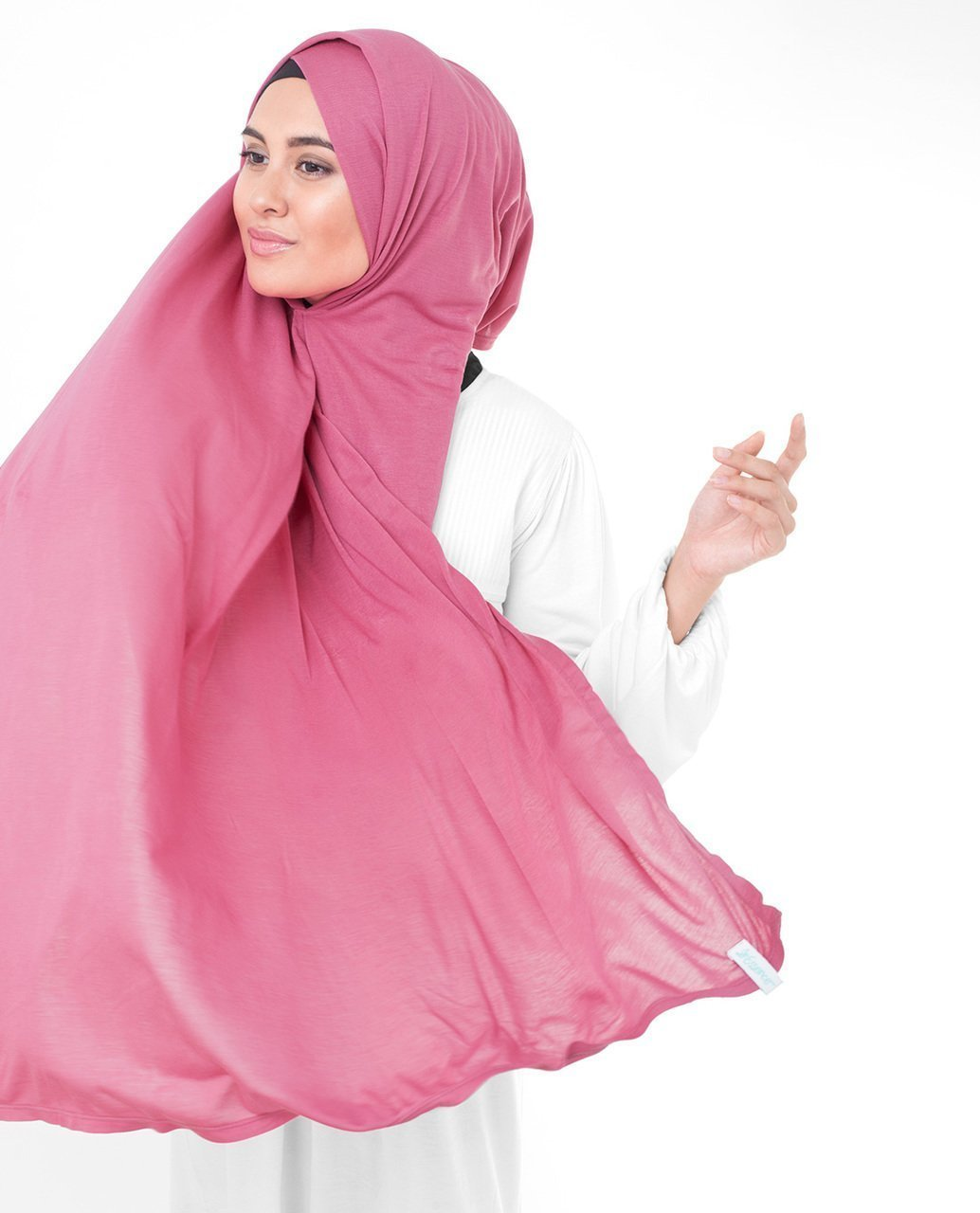 Honeysuckle Pink Viscose Jersey Hijab Medium Honeysuckle Pink