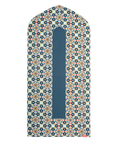 Geometric Arch Shaped Muslim Prayer Mat Rug Janamaz Green