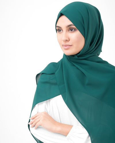 June Bug Green Poly Georgette Hijab Regular June Bug Green