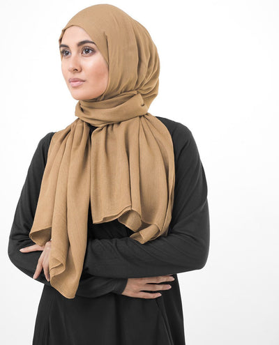 Latte Viscose Woven Hijab Regular Latte