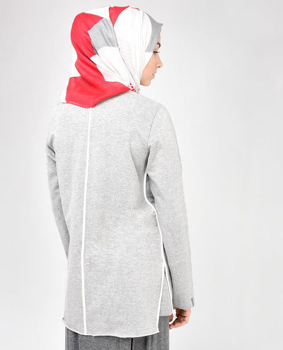 Light Grey Sweatshirt Slim