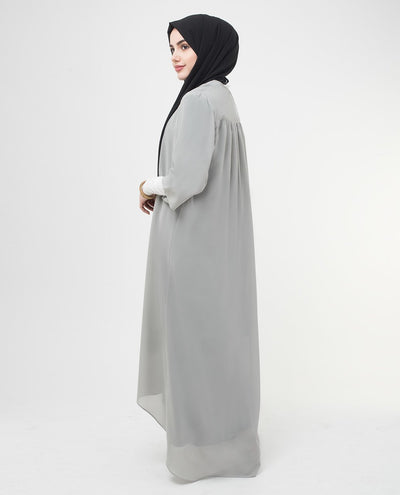 "Long Sheer Ash Grey Kimono Small Petite (- 5'2"") Ash Grey"