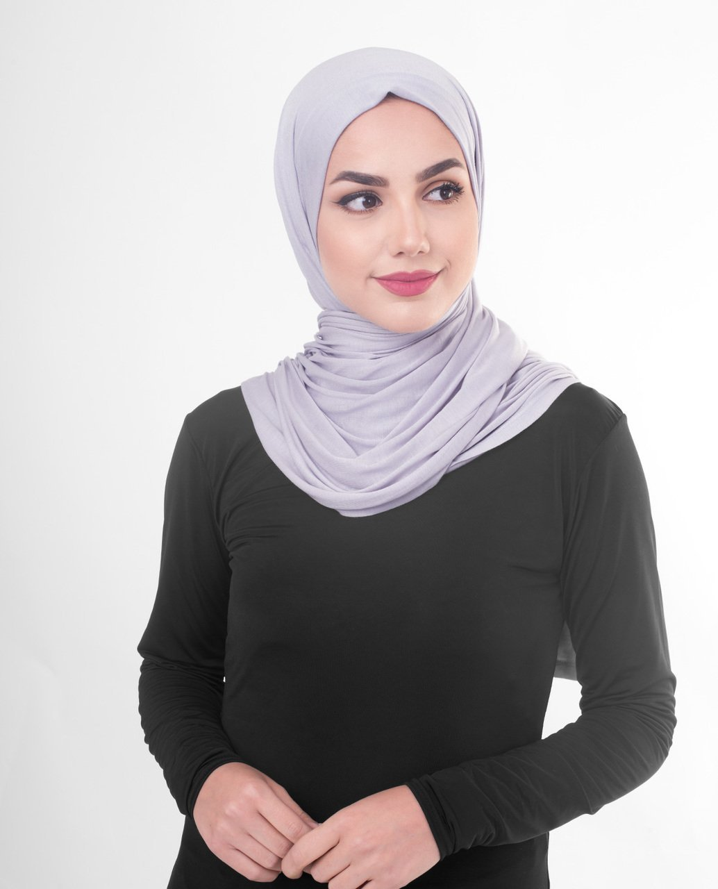 Misty Lilac Viscose Jersey Hijab Regular