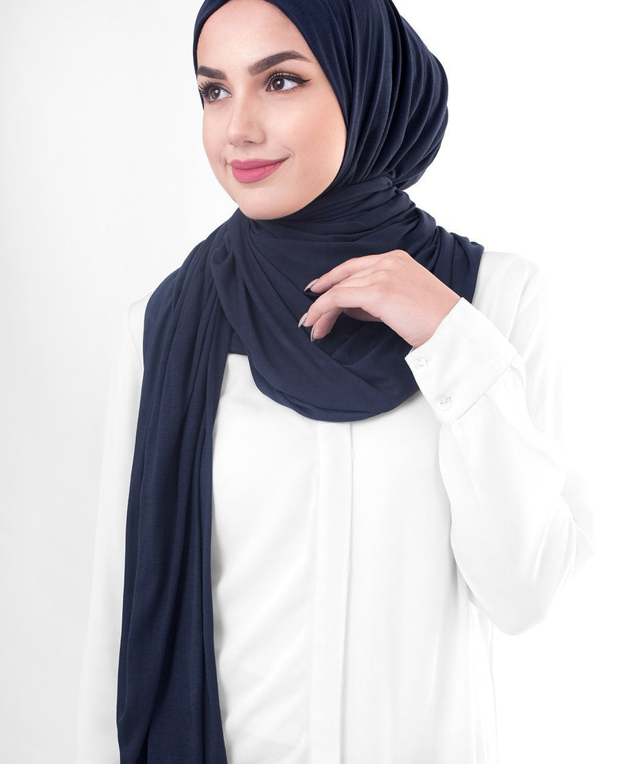 Mood Indigo Viscose Jersey Hijab Regular Mood Indigo