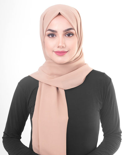 Natural Poly Georgette Hijab Regular Natural Poly