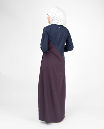 Navy Contrast Classic Route Sports Jilbab or Abaya S 54 Purple