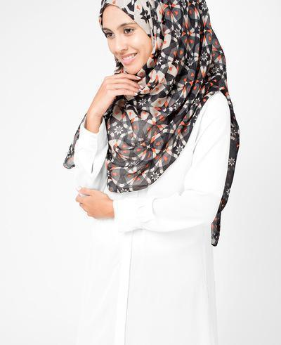 Nine Iron Hijab Medium Black and Orange