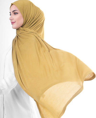 Olive Oil Viscose Jersey Hijab Regular Olive Oil